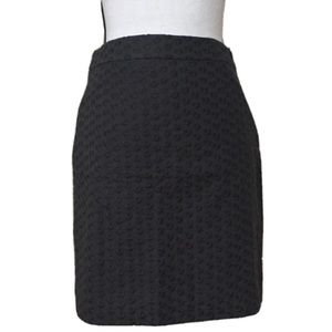 JCrew Grey Embroidered Pencil Skirt Size 6P